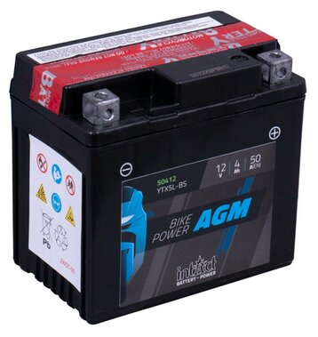 Intact Bike-Power AGM YTX5L-BS 4Ah Motorradbatterie (DIN...