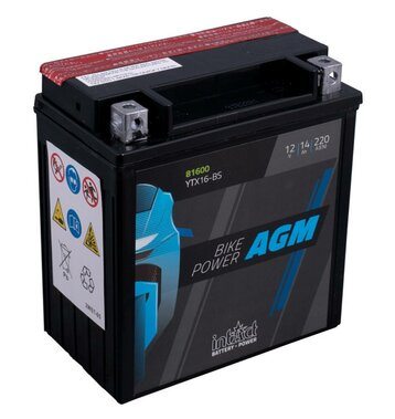 Intact Bike-Power AGM YTX16-BS 14Ah Motorradbatterie 12V...