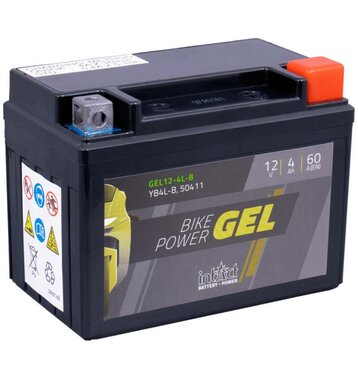Intact Bike-Power GEL Rollerbatterie GEL12-4L-B 4Ah (DIN...