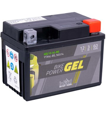 Intact Bike-Power GEL Motorradbatterie GEL12-4L-BS 3Ah...