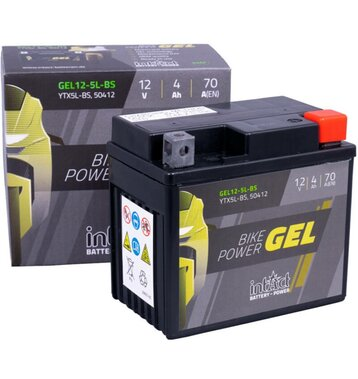 Intact Bike-Power GEL YTX5L-BS Motorradbatterie 4Ah (DIN 50412) GEL12-5L-BS