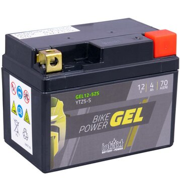 Intact Bike-Power GEL Motorradbatterie GEL12-5ZS 4Ah (DIN...