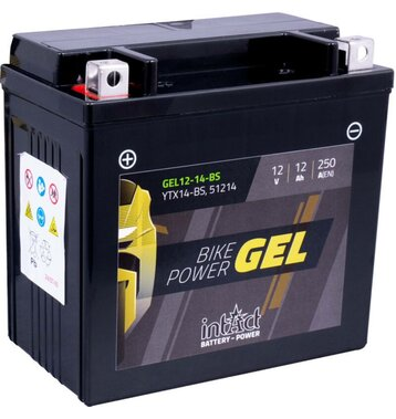 Intact Bike-Power GEL Motorradbatterie GEL12-14-BS 12Ah...