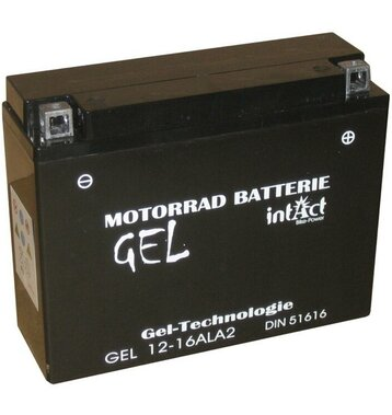 Intact Bike-Power GEL Motorradbatterie GEL12-16AL-A2 16Ah...