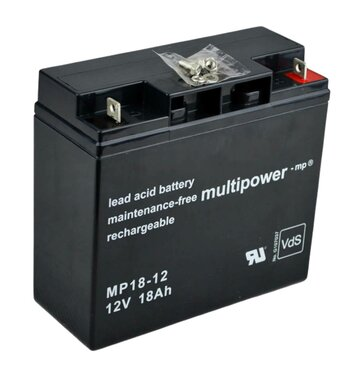 multipower MP18-12 12V 18Ah Bleiakku