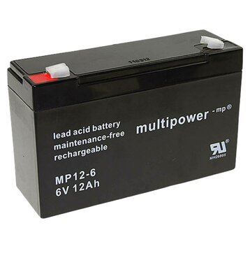 multipower MP12-6 6V 12Ah Bleiakku