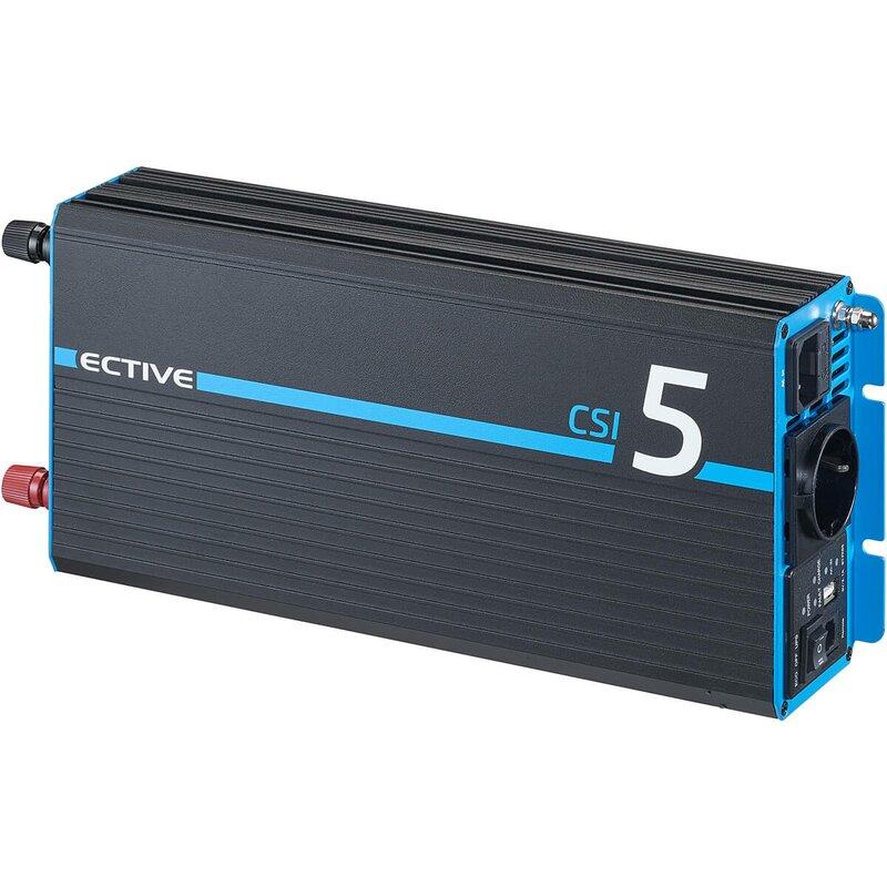 ECTIVE CSI 5 500W12V Sinus Wechselrichter mit Ladegerät, NVS und USV Funktion
