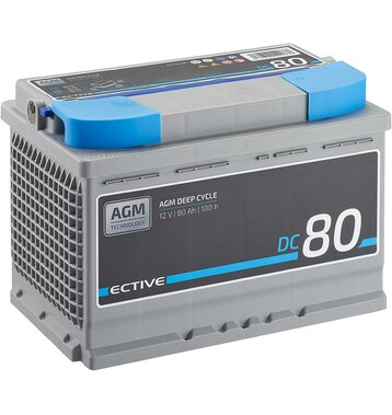 ECTIVE DC 80 AGM Deep Cycle 80Ah Versorgungsbatterie