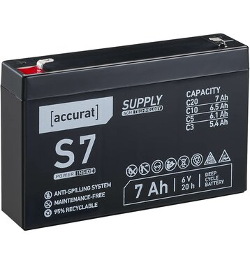 Accurat Supply S7 AGM 6V Bleiakku 7Ah