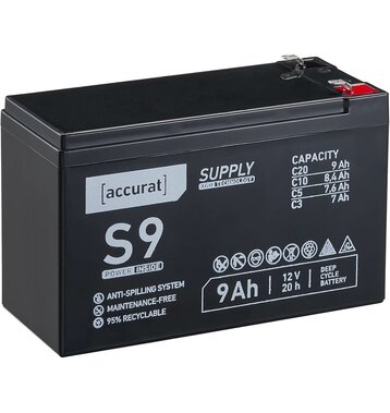 Accurat Supply S9 12V AGM Bleiakku 9Ah