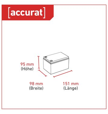 Accurat Supply S12 12V AGM Bleiakku 12Ah