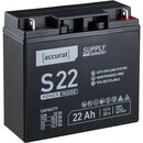 Accurat Supply S22 12V AGM Bleiakku 22Ah