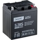 Accurat Supply S28S AGM 12V Versorgungsbatterie 28Ah...