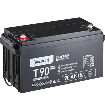 Accurat Traction T90 Pro AGM 12V Versorgungsbatterie 90...