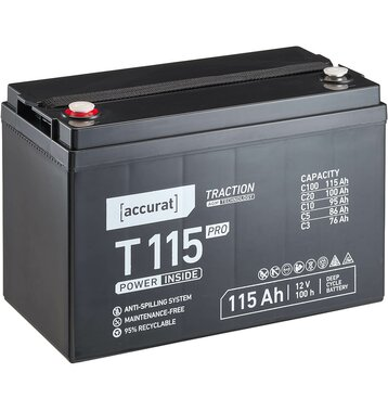 Accurat Traction T115 Pro 12V AGM Bleiakku 115Ah