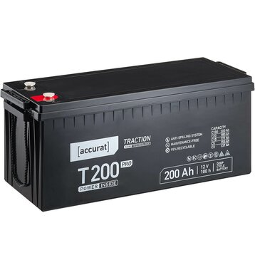 Accurat Traction T200 Pro AGM 12V Versorgungsbatterie...