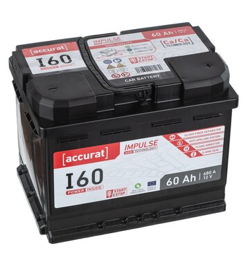 Accurat Impulse I60 Autobatterie 60Ah AGM Start-Stop