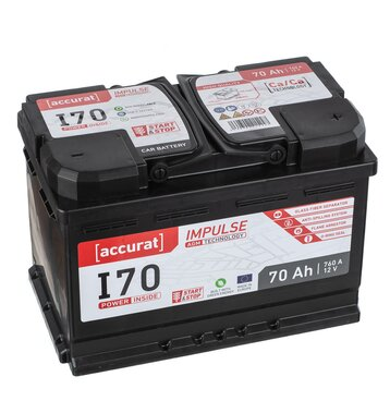 Accurat Impulse I70 Autobatterie 70Ah AGM Start-Stop