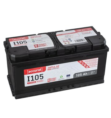 Accurat Impulse I105 Autobatterie 105Ah AGM Start-Stop