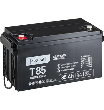 Accurat Traction T85 12V 85Ah GEL Versorgungsbatterie
