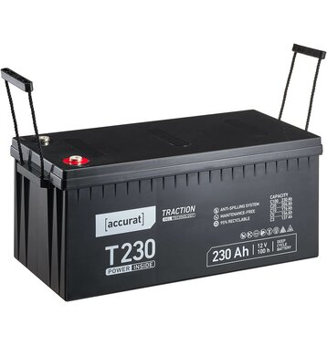 Accurat Traction T230 12V GEL Versorgungsbatterie 230Ah