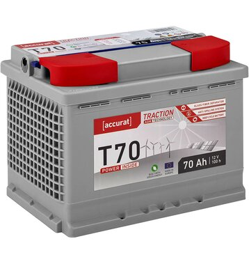 Accurat Traction T70 AGM Versorgungsbatterie 70Ah