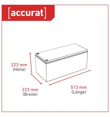 Accurat Traction T180 AGM Versorgungsbatterie 180Ah