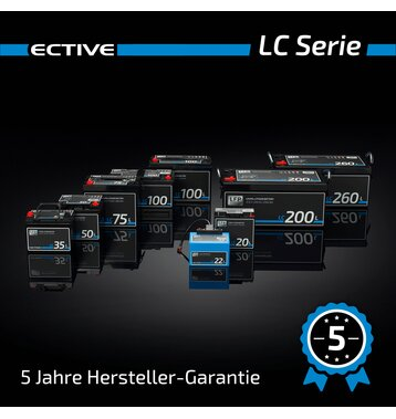 ECTIVE LC 20L 12V LiFePO4 Lithium Versorgungsbatterie 20 Ah