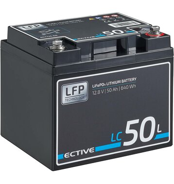 ECTIVE LC 50L 12V LiFePO4 Lithium Versorgungsbatterie 50 Ah
