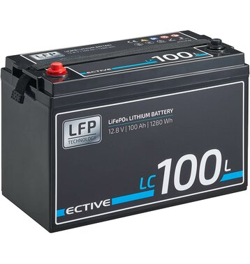 ECTIVE LC 100L 12V LiFePO4 Lithium Versorgungsbatterie 100 Ah