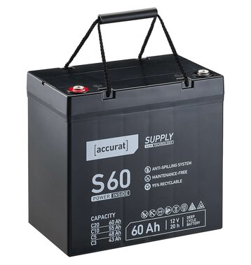 Accurat Supply S60 AGM Bleiakku 60 Ah