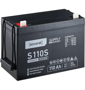 Accurat Supply S110s AGM Bleiakku 110 Ah