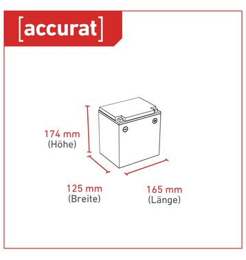 Accurat Traction T24 LFP 12V LiFePO4 Lithium Versorgungsbatterie 24 Ah