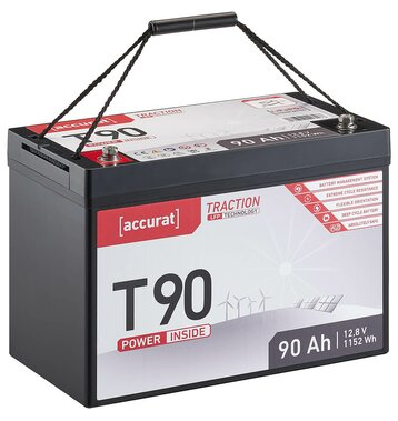 Accurat Traction T90 LFP 12V LiFePO4 Lithium...