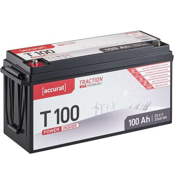 Accurat Traction T100 LFP 24V LiFePO4 Lithium...