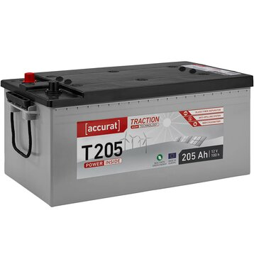 Accurat Traction T205 AGM Versorgungsbatterie 205Ah
