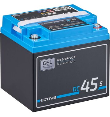 ECTIVE DC 45S GEL Deep Cycle mit LCD-Anzeige 45Ah...