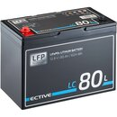 ECTIVE LC 80L 12V LiFePO4 Lithium Versorgungsbatterie 80Ah