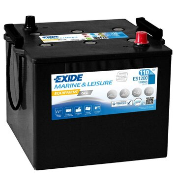 Exide ES1200 Equipment Gel (Gel G110) 110Ah Nato-Block
